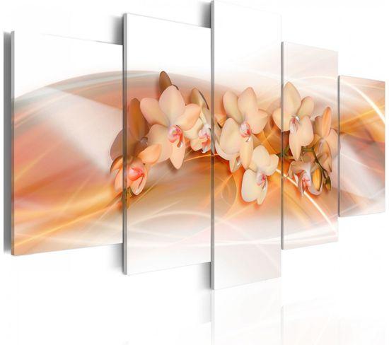 Tableau Orchidee Décoration Raffinée 100 X 50 Cm