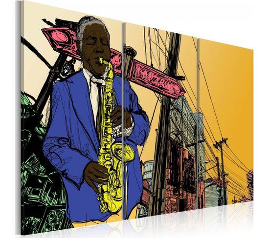 Tableau Jazz Pour Les Connaisseurs 60 X 40 Cm