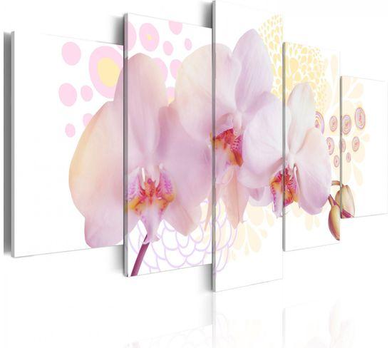 Tableau Orchidee Subtile 100 X 50 Cm