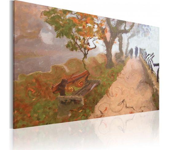Tableau Promenade D'automne 60 X 40 Cm