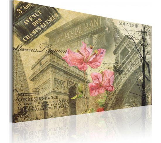 Tableau Collage Français 60 X 40 Cm