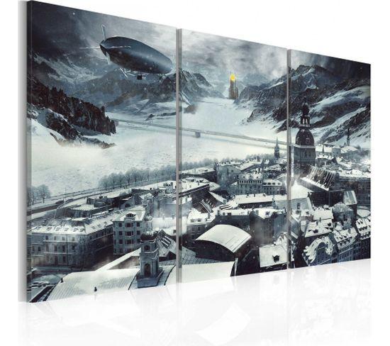 Tableau Le Temps D'hiver 120 X 80 Cm