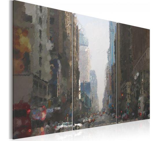 Tableau Rainy City Behind The Glass 60 X 40 Cm