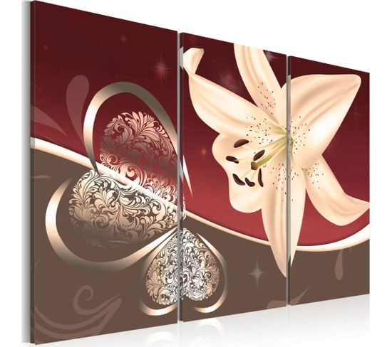 Tableau Abstractions Avec Lys 60 X 40 Cm