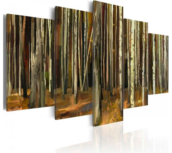 Tableau Mystère De La Forêt De Sherwood 200 X 100 Cm