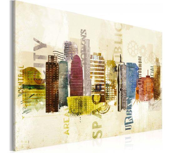 Tableau Urban Design 90 X 60 Cm