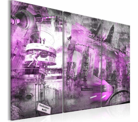 Tableau Berlin - Architecture (violet) 120 X 80 Cm