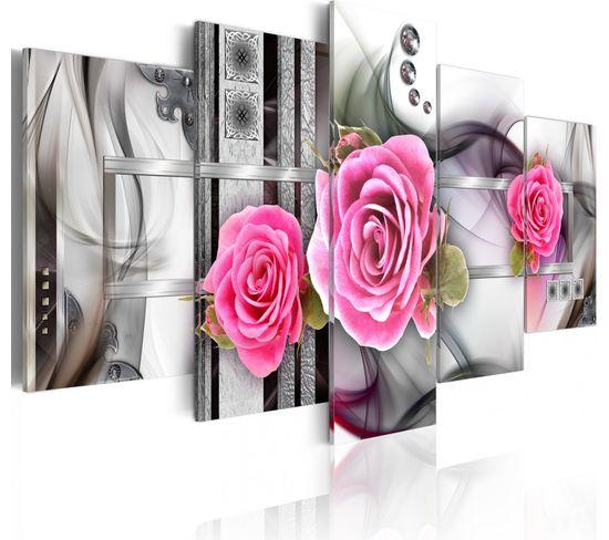 Tableau Fantaisie Et Roses 200 X 100 Cm