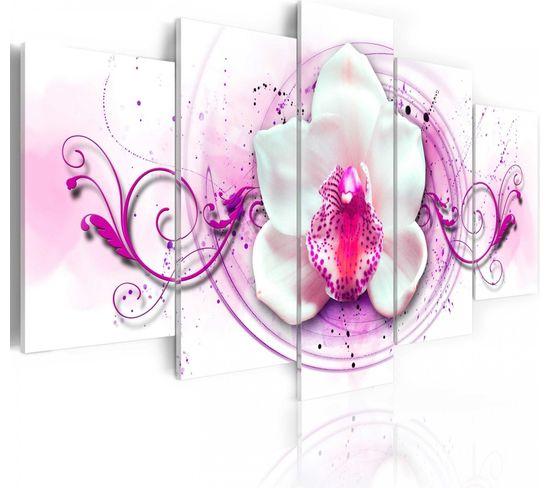 Tableau Orchidée - Expression Rose 200 X 100 Cm