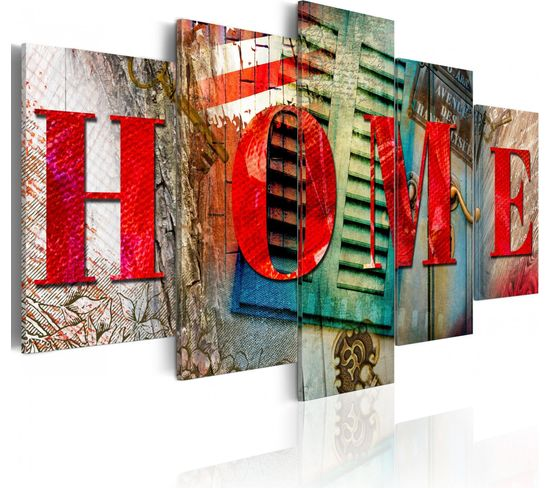 Tableau Elements Of Home 100 X 50 Cm