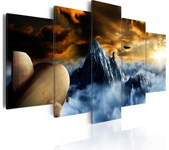Tableau Over The Clouds 100 X 50 Cm