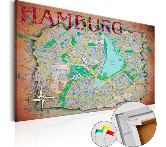 Tableau En Liège Hamburg 90 X 60 Cm