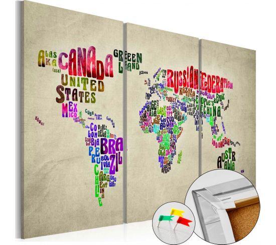Tableau En Liège Colorful Countries 60 X 40 Cm