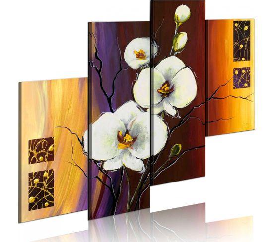 Peinture Sur Toile Orchidee Blanche