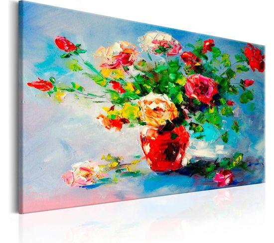 Tableau Beautiful Roses 90 X 60 Cm