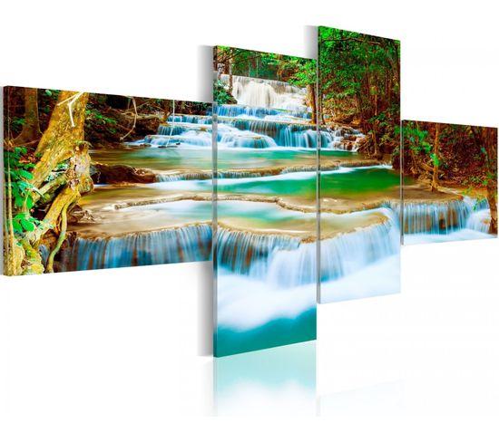 Tableau Cascade River 100 X 45 Cm