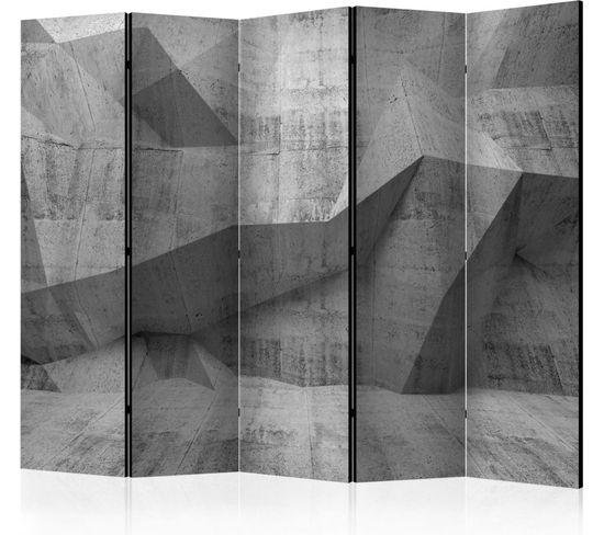 Paravent 5 Volets Concrete Geometry Ii
