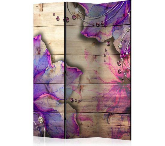 Paravent 3 Volets Purple Memory