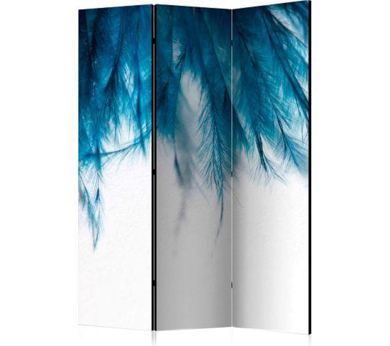 Paravent 3 Volets Sapphire Feathers