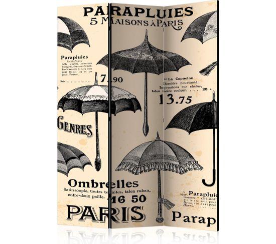 Paravent 3 Volets Vintage Umbrellas