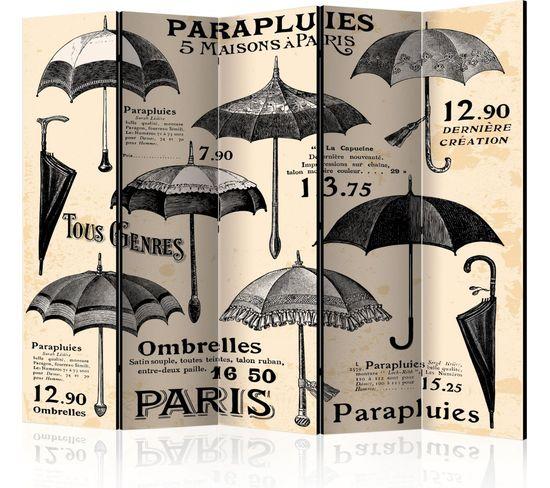 Paravent 5 Volets Vintage Umbrellas Ii