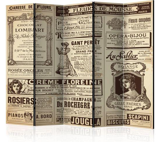 Paravent 5 Volets Vintage Magazines Ii