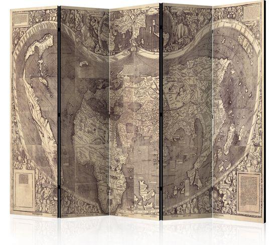 Paravent 5 Volets Map Amerigo Vespucci !