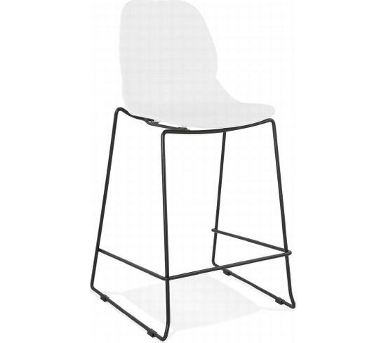 Tabouret De Bar Design Ziggy Mini Black Blanc
