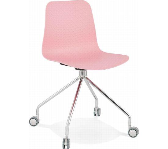 Chaise De Bureau Rulle Rose