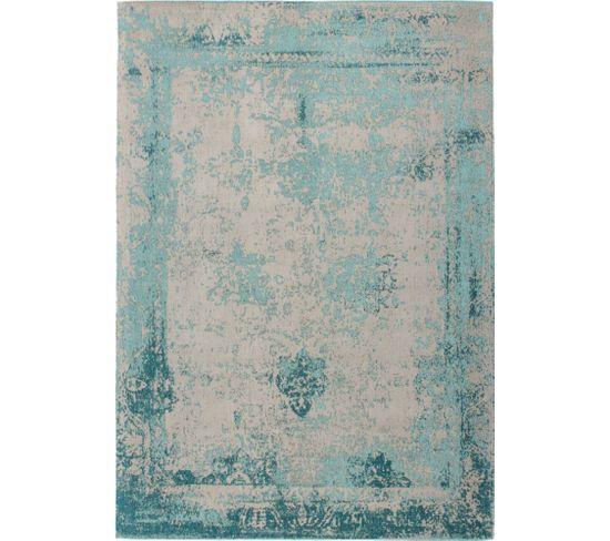 Tapis Fait Main Nostalgie 285 Turquoise 200 X 290 Cm