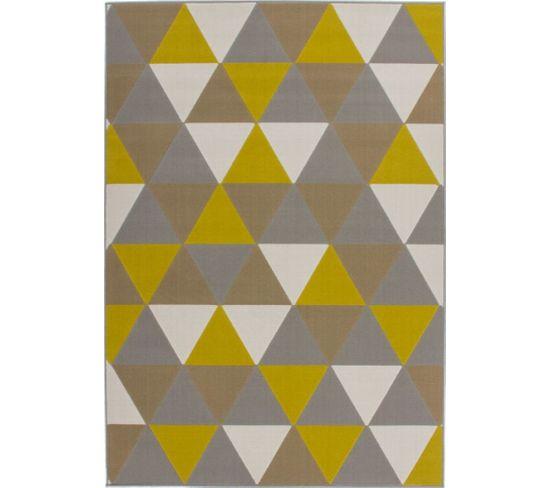 Tapis Tissé Now 200 Multicolore Or 120 X 170 Cm