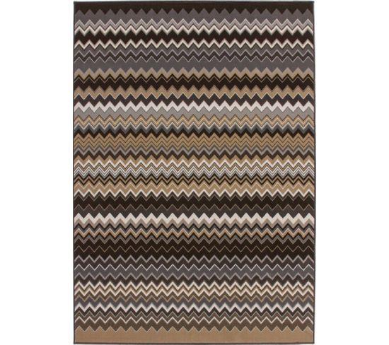 Tapis Tissé Now 700 Multicolore Marron 120 X 170 Cm