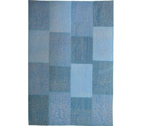 Tapis Fait Main 110 Lyrical Multicolore Bleu 80 X 150 Cm