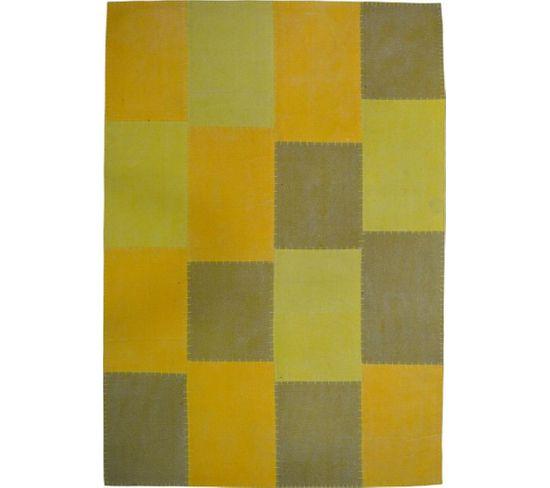 Tapis Fait Main 110 Lyrical Multicolore Jaune 80 X 150 Cm