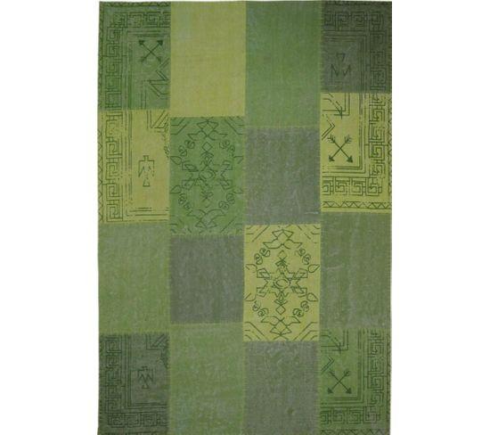 Tapis Fait Main 210 Lyrical Multicolore Vert 160 X 230 Cm