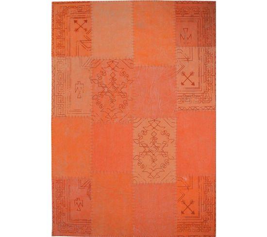 Tapis Fait Main 210 Lyrical Multicolore Orange 200 X 290 Cm