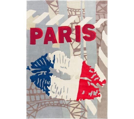 Tapis Tissé Joy 4203 Tricolore Paris 170 X 240 Cm