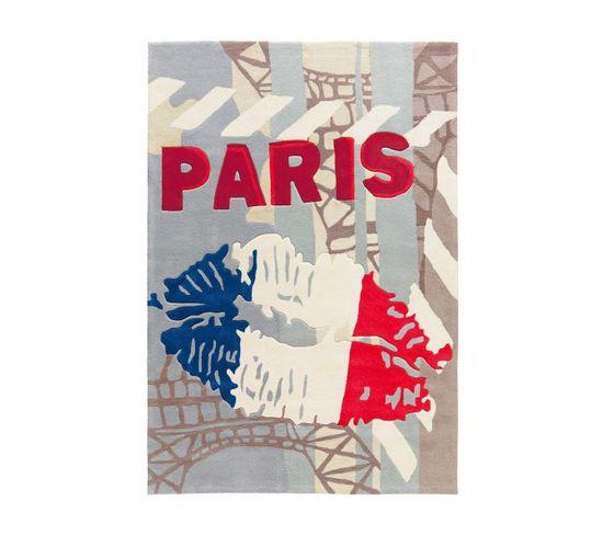Tapis Tissé Joy 4203 Tricolore Paris 120 X 180 Cm