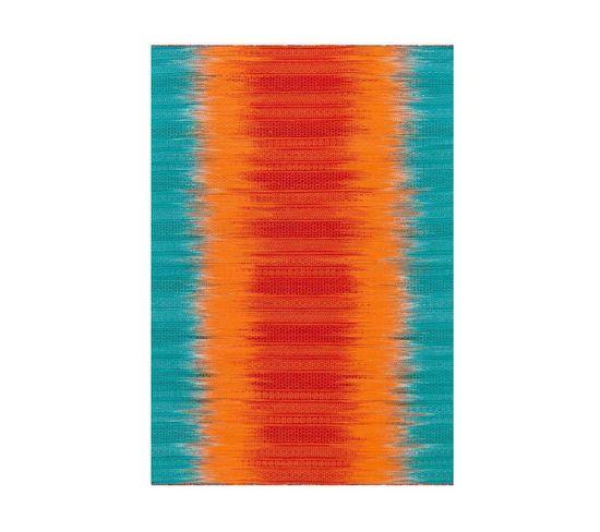Tapis Tissé Sunset 8070 Orange Blau 90 X 160 Cm