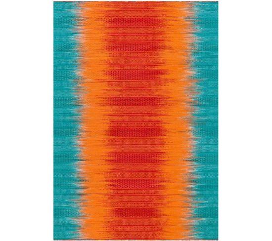 Tapis Tissé Sunset 8070 Orange Blau 140 X 200 Cm