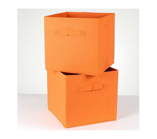 Cube De Rangement Intissé 28 Cm - Lot De 2 - Panier BUT