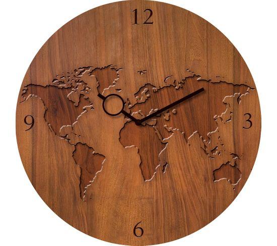 Horloge en verre D.30 TIME ART Marron