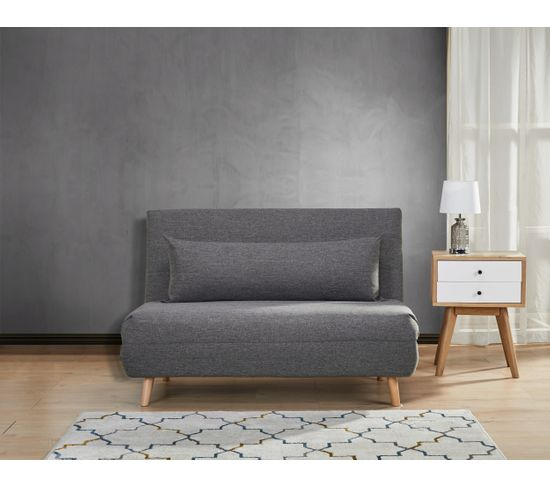 Fauteuil 2 places convertible IGLOO tissu gris