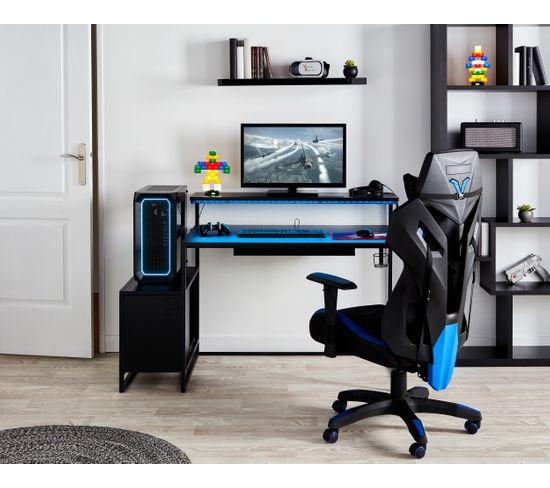 Bureau LED PRO GAMER Noir