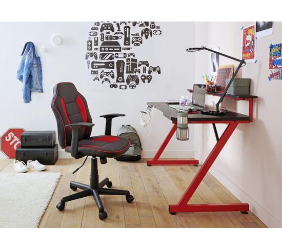 Bureau gamer CODE Noir et rouge