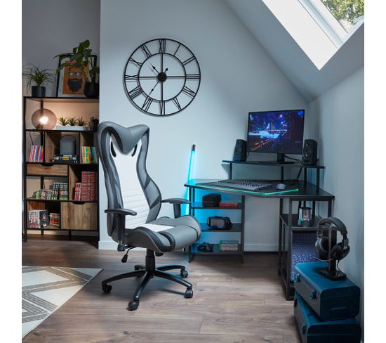 Bureau gamer LED TANK Noir