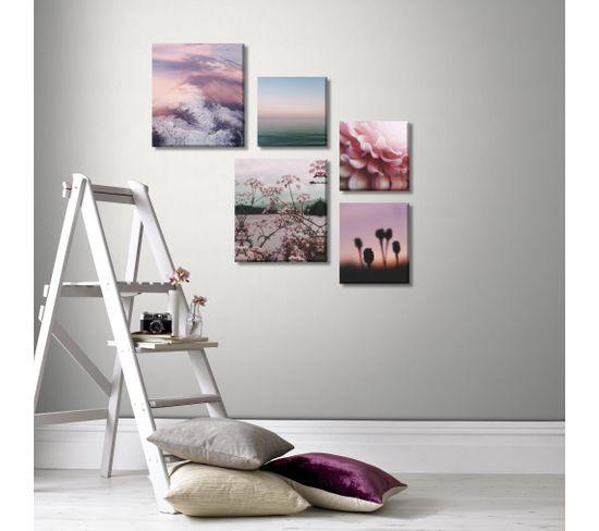 Set 5 toiles 60x80 cm PASTEL Multicolore