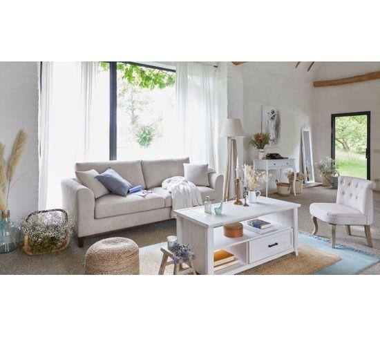 Canapé 3 places LUKI tissu Aston beige