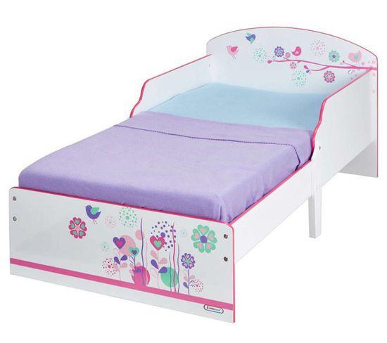 lit enfant 70 x 140 cm ptit bed cosy flower power dim 142 x 77 x 59 cm