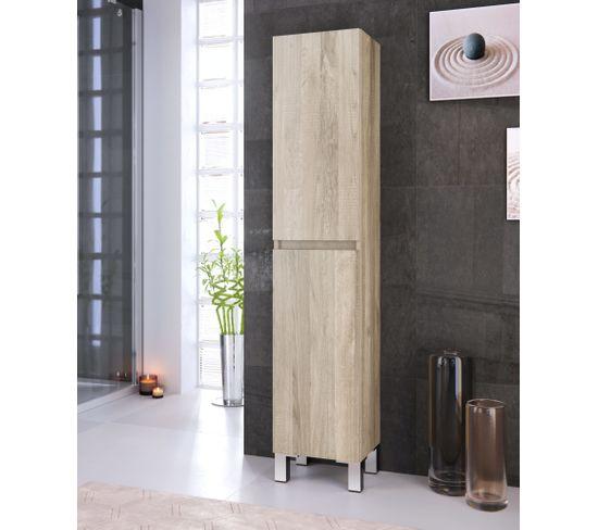 Colonne de salle de bain à poser BALI imitation chêne